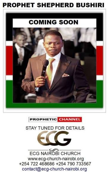 Major 1 visiting Kenya soon, ECG Church Nairobi