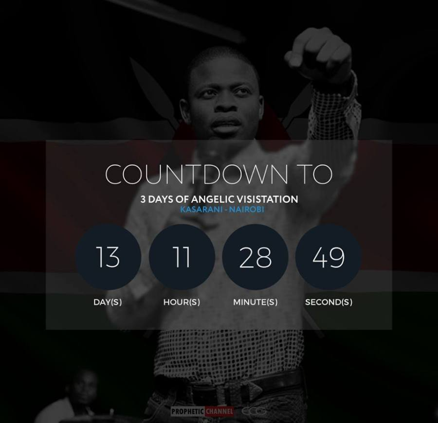 """3 Days of Angelic Visitation"""" by Major 1 Prophet Sherpherd Bushiri this April, from the 17th to the 19th of April, at the Kasarani Indoor Arena"""